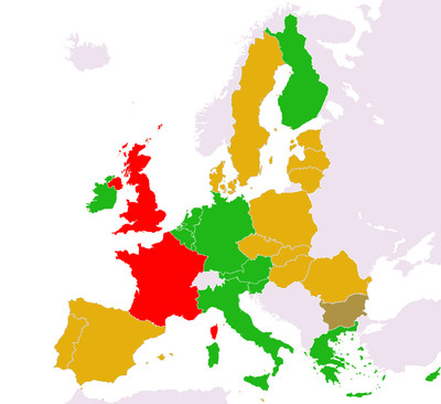 EU member state voting positions on UNGA resolutions