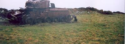 Contaminated tank at Dundrennan